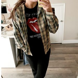 NWOT plaid button up flannel